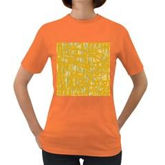 Yellow pattern Women s Dark T-Shirt