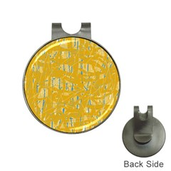 Yellow pattern Hat Clips with Golf Markers