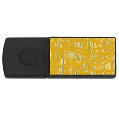 Yellow pattern USB Flash Drive Rectangular (4 GB)