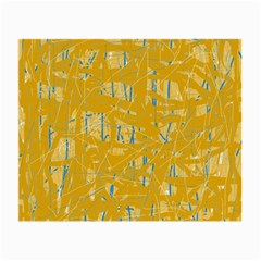 Yellow pattern Small Glasses Cloth (2-Side)