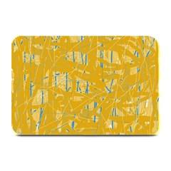Yellow pattern Plate Mats