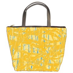 Yellow Pattern Bucket Bags