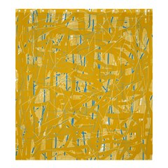 Yellow pattern Shower Curtain 66  x 72  (Large)