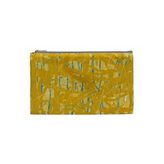 Yellow pattern Cosmetic Bag (Small)