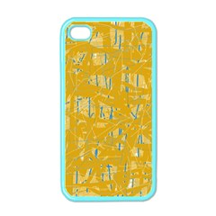 Yellow pattern Apple iPhone 4 Case (Color)