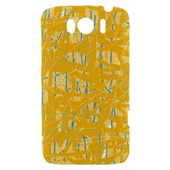Yellow pattern HTC Sensation XL Hardshell Case