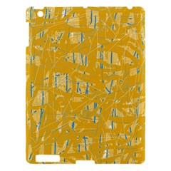 Yellow pattern Apple iPad 3/4 Hardshell Case