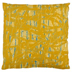 Yellow pattern Large Cushion Case (Two Sides)