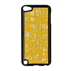 Yellow pattern Apple iPod Touch 5 Case (Black)