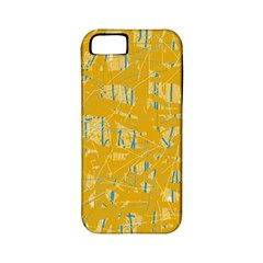 Yellow pattern Apple iPhone 5 Classic Hardshell Case (PC+Silicone)