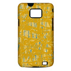 Yellow pattern Samsung Galaxy S II i9100 Hardshell Case (PC+Silicone)