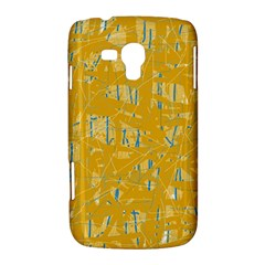 Yellow pattern Samsung Galaxy Duos I8262 Hardshell Case