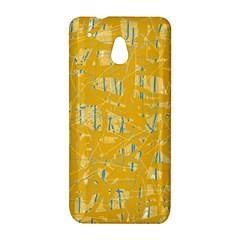 Yellow pattern HTC One Mini (601e) M4 Hardshell Case