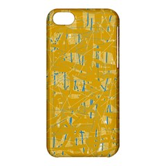 Yellow pattern Apple iPhone 5C Hardshell Case