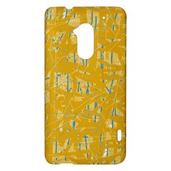 Yellow pattern HTC One Max (T6) Hardshell Case