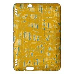 Yellow pattern Kindle Fire HDX Hardshell Case