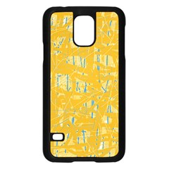Yellow pattern Samsung Galaxy S5 Case (Black)