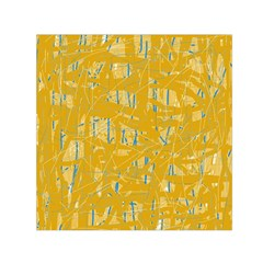 Yellow pattern Small Satin Scarf (Square)