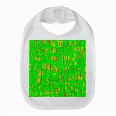 Neon Green Pattern Bib