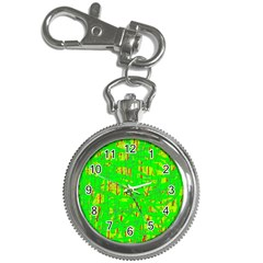 Neon green pattern Key Chain Watches