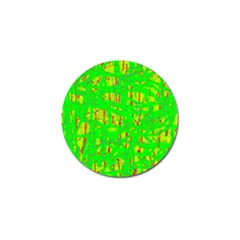 Neon green pattern Golf Ball Marker (10 pack)