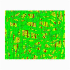 Neon green pattern Small Glasses Cloth
