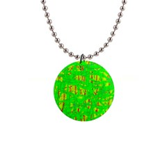 Neon green pattern Button Necklaces