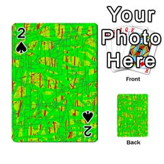 Neon green pattern Playing Cards 54 Designs