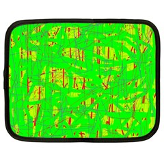 Neon green pattern Netbook Case (Large)