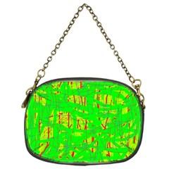 Neon green pattern Chain Purses (One Side)
