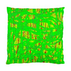 Neon green pattern Standard Cushion Case (Two Sides)