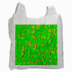 Neon green pattern Recycle Bag (Two Side)
