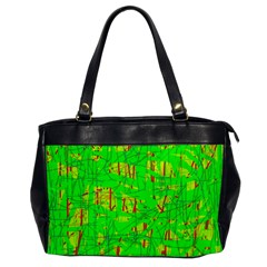 Neon green pattern Office Handbags