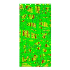 Neon green pattern Shower Curtain 36  x 72  (Stall)