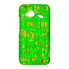 Neon green pattern HTC Droid Incredible 4G LTE Hardshell Case