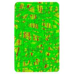 Neon green pattern Kindle Fire (1st Gen) Hardshell Case