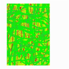 Neon green pattern Small Garden Flag (Two Sides)