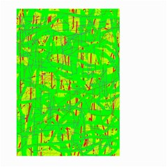 Neon green pattern Large Garden Flag (Two Sides)