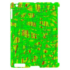 Neon green pattern Apple iPad 2 Hardshell Case (Compatible with Smart Cover)