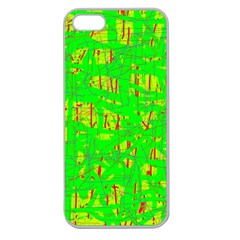 Neon green pattern Apple Seamless iPhone 5 Case (Clear)
