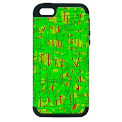 Neon green pattern Apple iPhone 5 Hardshell Case (PC+Silicone)