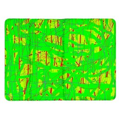 Neon green pattern Kindle Fire (1st Gen) Flip Case