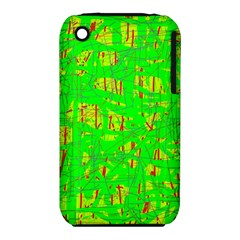 Neon green pattern Apple iPhone 3G/3GS Hardshell Case (PC+Silicone)