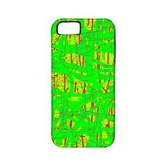 Neon green pattern Apple iPhone 5 Classic Hardshell Case (PC+Silicone)