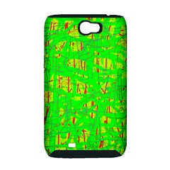 Neon green pattern Samsung Galaxy Note 2 Hardshell Case (PC+Silicone)