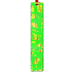 Neon green pattern Large Book Marks