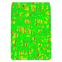 Neon green pattern Flap Covers (L)