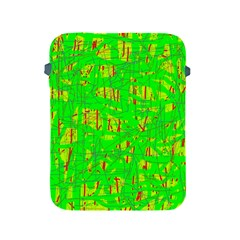 Neon green pattern Apple iPad 2/3/4 Protective Soft Cases