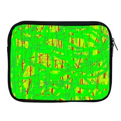 Neon green pattern Apple iPad 2/3/4 Zipper Cases