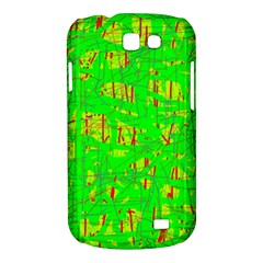 Neon green pattern Samsung Galaxy Express I8730 Hardshell Case